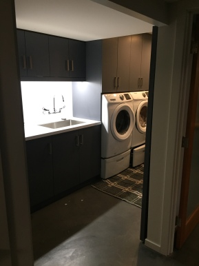Broadview Basement: Custom Laundry Room