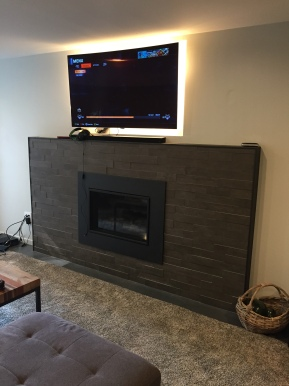 Broadview Basement: Fireplace